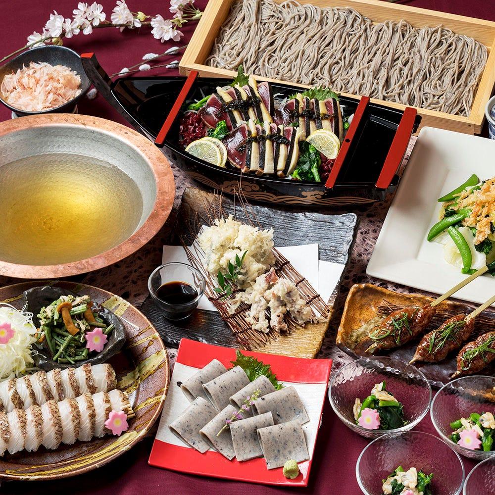 安心の個別盛り◎季節食材や鮮魚を使ったコースは3,000円~!