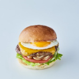 半熟エッグチーズバーガー
