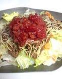タコライス Taco rice(Taco filling put on rice)
