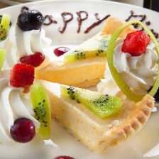 お誕生日特典にデザートプレート!