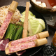【名物:鴨亭鍋】ユズ胡椒風味のつくね鍋。夏でも人気です。