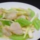茎レタスと平貝の炒め