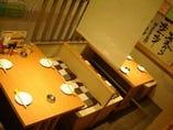 テーブル席は4名&5名様 9名様[最大10名]までご利用頂けます