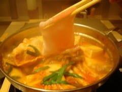 【長崎芳寿豚と豆腐のチゲ鍋】