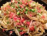 魚介のコクが美味さを引き出す! 太麺 塩焼そば~オリジナル