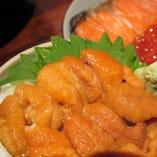 北海道近海もの 塩水うに丼