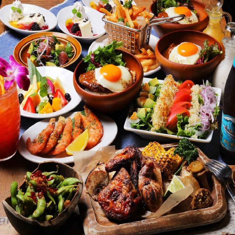 ププス~デザートまでアロハテーブルを詰め込んだお食事コース