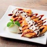 食後のデザートに、東京純豆腐特製のパンケーキはいかがですか?