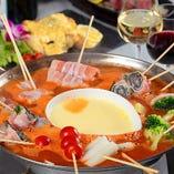トマトチーズ串鍋