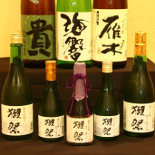 獺祭など,,,山口県の地酒を楽しめる