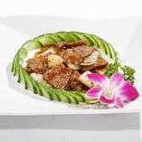 5.牛肉と季節野菜の黒胡椒炒め