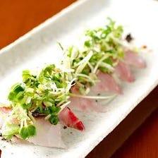 スタンダードコース -Baikautsugi-  宴会にもおすすめ カルパッチョやエビの炉端焼き、デザート付き