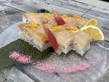 料理長おすすめ! 真鯛の押し寿司