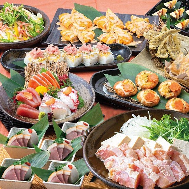 【舞コース】2h飲み放題+牛もつ鍋、お造り4種盛り、全9品!!