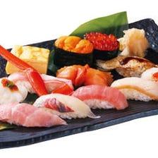 お寿司をお持ち帰り頂けます