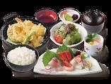 刺身・天ぷら定食