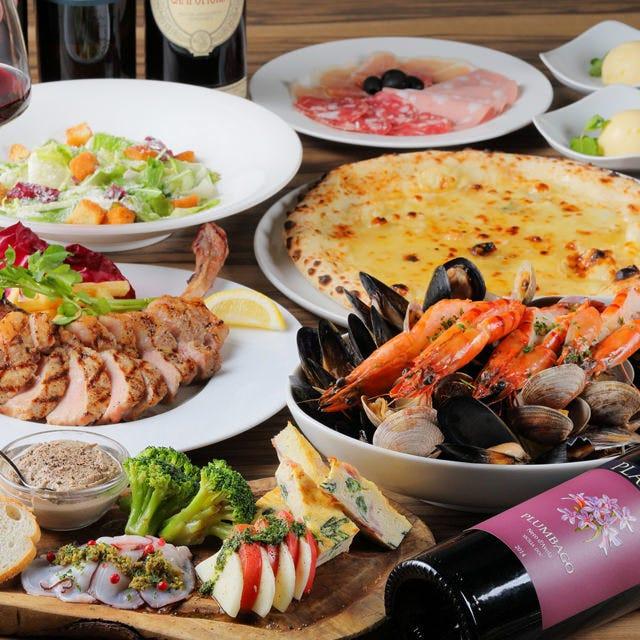 【プレミアムコース】豪快なまるごとエビスパゲティなど贅沢に!