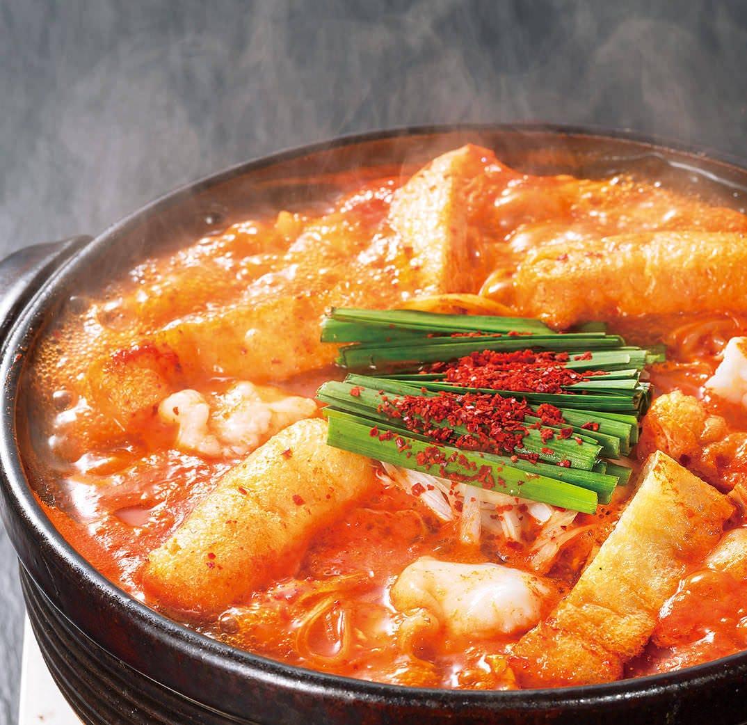 段階で選べる好みの辛さ 「赤から鍋」