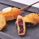 デザート串(バームクーヘン&きんつば)