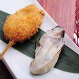 牡蠣の串かつ