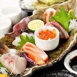 お刺身は京都府の『舞鶴漁港直行便』で厳選仕入れ!