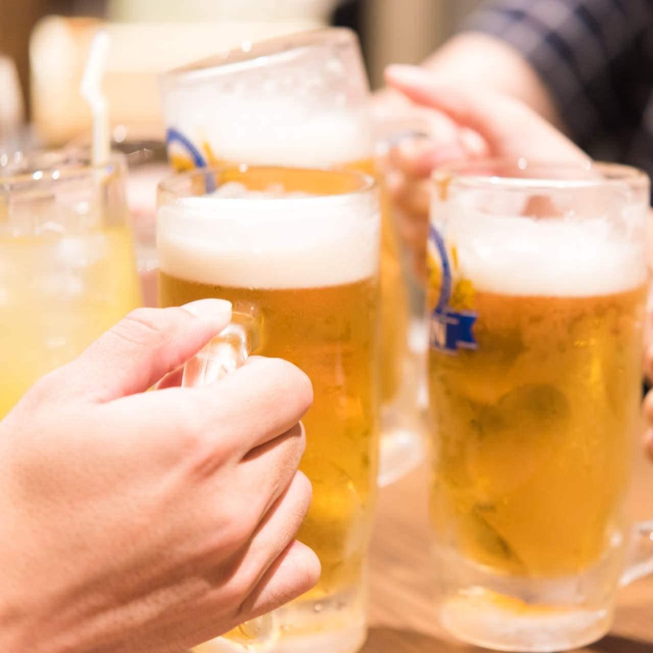 人気のメニュー+飲み放題がセット!