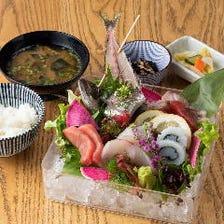 朝どれの地魚や地野菜を贅沢に堪能