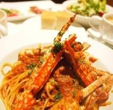 大人気★渡り蟹のスパゲッティー