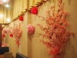 2Fフロアーでお花見気分で宴会が出来ます。