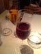 食前に注文したブドウのジュース